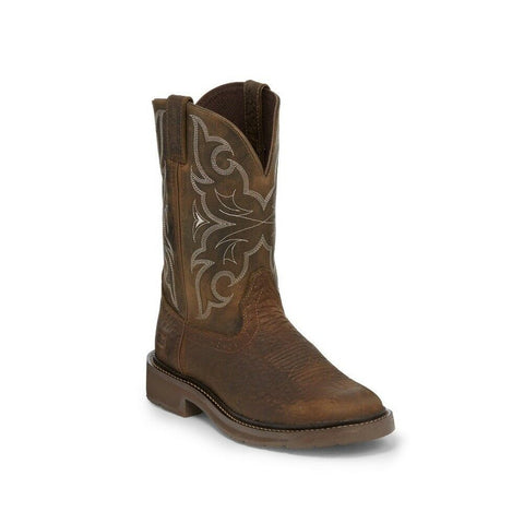 Justin Men's Amarillo Chocolate Western Work Boots WK4310