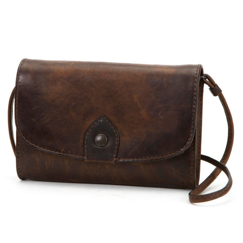Frye Ladies Melissa Dark Brown Leather Wallet Crossbody 34DB354 42354