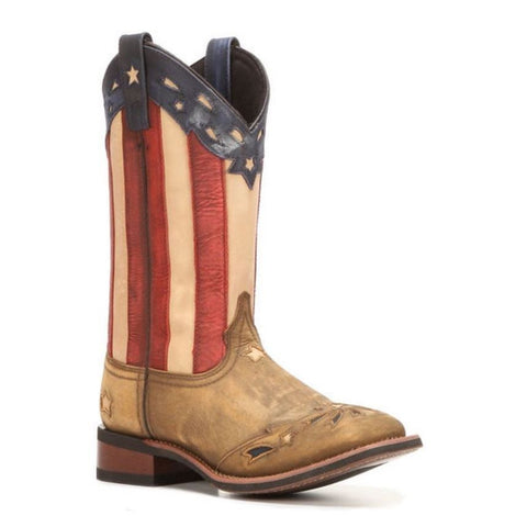 Laredo Ladies Square Toe Flag Boot 5665 - Wild West Boot Store - 1