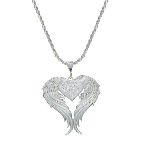 Montana Silversmiths Angel Heart Silver Necklace NC1129