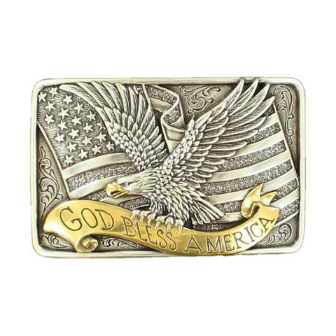 Nocona God Bless America Eagle Buckle 37015