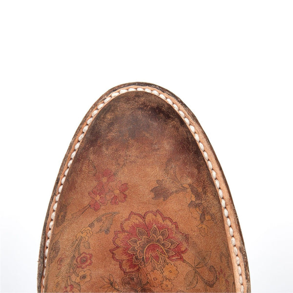 Lucchese Ladies Catalina Brown Floral Printed Shortie Boot M4953 - Wild West Boot Store - 5