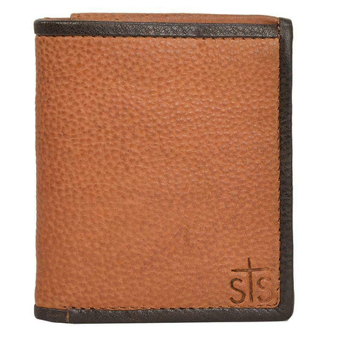 STS Ranchwear Brown Frontier Tri-Fold Wallet STS65033