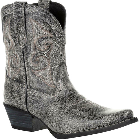 Durango Ladies Crush Pewter Shortie Western Boots DRD0357