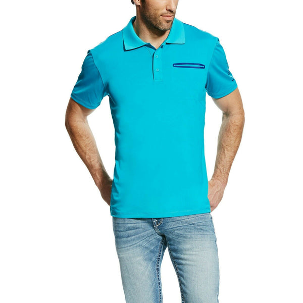 Ariat® Men's Perfect Turquoise Freeze Point Polo Shirt 10022323