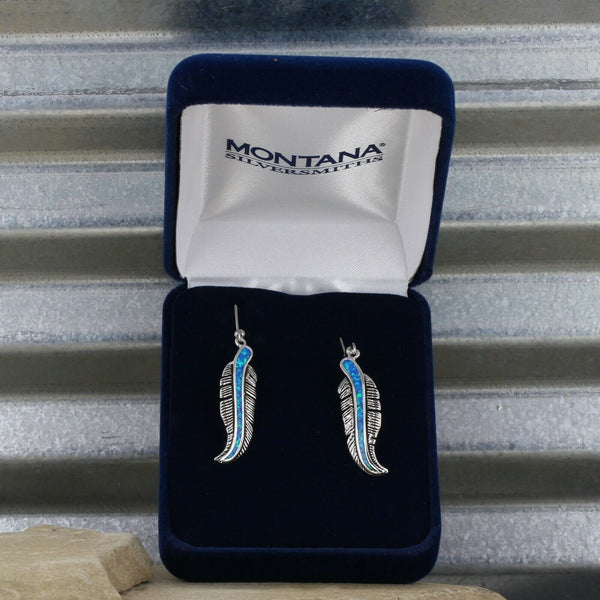 Montana Silversmiths The Storyteller Feather Dangle Earrings ER1320