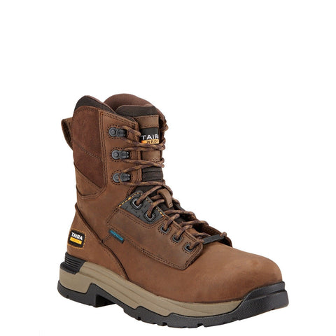 Ariat® MasterGrip Waterproof Composite Toe Brown Work Boots 10017429 - Wild West Boot Store