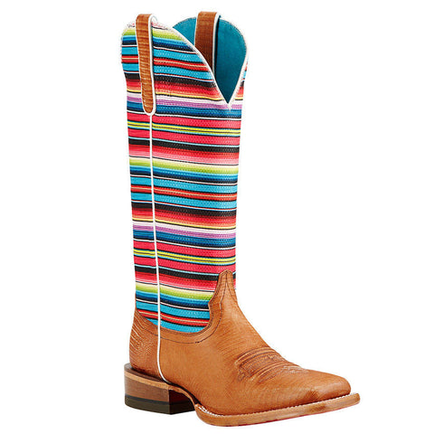 Ariat Ladies Gringa Natural Lizard Print Multicolored Boots 10018500 - Wild West Boot Store