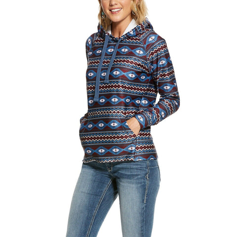 Ariat® Ladies Aztec Stretch Fleece Hoodie Sweatshirt 10028060