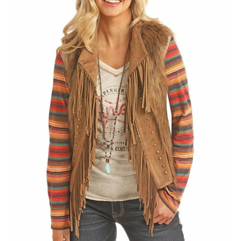 Panhandle Ladies Brown Faux Fur Vest 58-2712