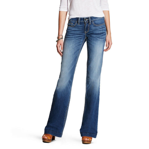 Ariat® Ladies Trouser Mid Rise Baseball Stitch Stretch Jeans 10021883