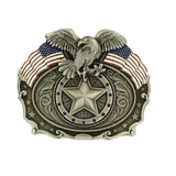 Nocona Mens American Flag with Eagle Belt Buckle 37946