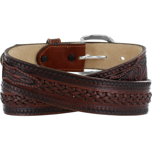 Tony Lama Men's Brown Pueblo Lace Belt C42494