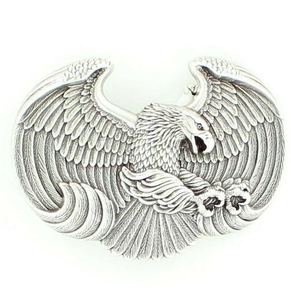 Nocona Mens Attacking Eagle Embossed Belt Buckle 37658
