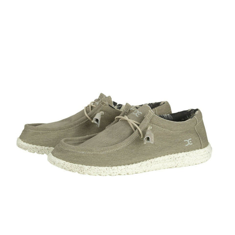Hey Dude Men's Wally Stretch Beige Shoes 110380500