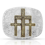 Montana Silversmiths Two-tone Triple Cross Buckle 6507-101648