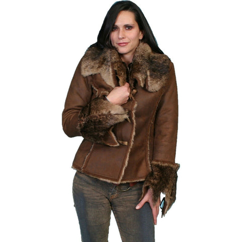 Scully Ladies Soft & Luxurious Faux Fur Java Jacket 8010-JVA