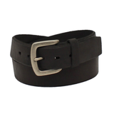 Ariat Men's Beveled Edge Embroidered Logo Black Leather Belt A1037401