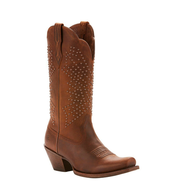 Ariat® Ladies Lakyn Brown Crinkled Studded Boots 10025137