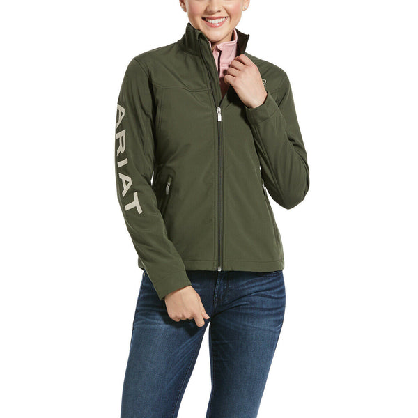 Ariat® Ladies New Team Prairie Green Softshell Jacket 10032690