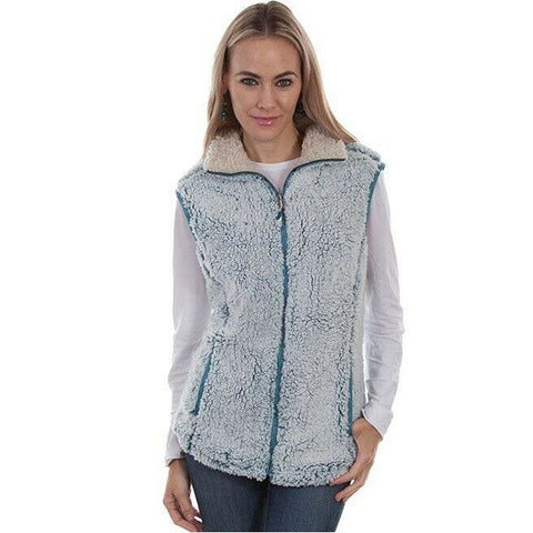 Scully Ladies Aqua Sherpa Vest HC335-AQU