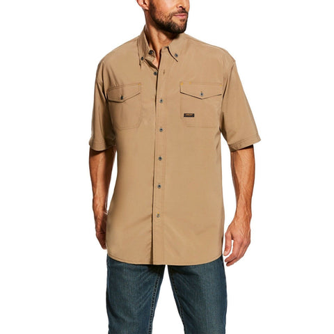 Ariat® Men's Rebar Made Tough VentTEK Short Sleeve Work Shirt 10025384