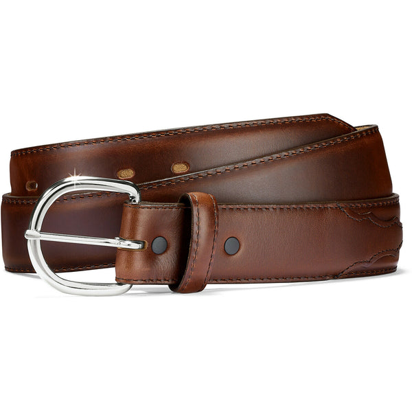 Justin Men's Classic Western Brown Leather Belt 53717