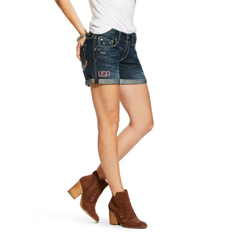 "Ariat® Ladies Denim 5"" Boyfriend Freedom Shorts 10026693"