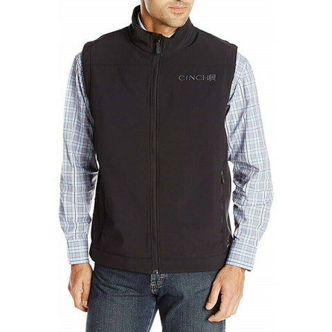 Cinch Men's Black Solid Bonded Vest MWV1012010