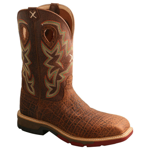 Twisted X Men's Nano Composite Toe Tan Western Work Boots MXBN001