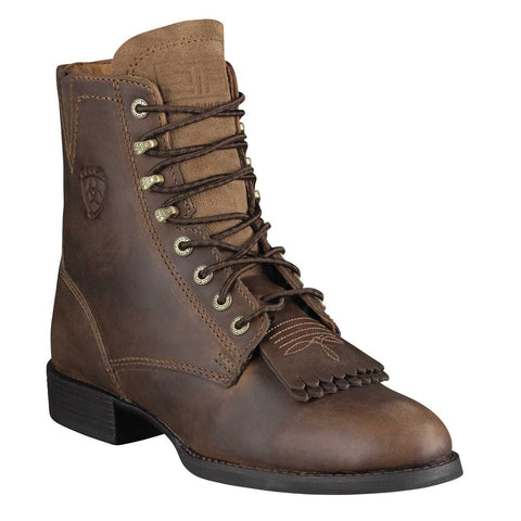 Ariat® Ladies Heritage Lacer II Kiltie Distressed Brown Boot 10002147 - Wild West Boot Store