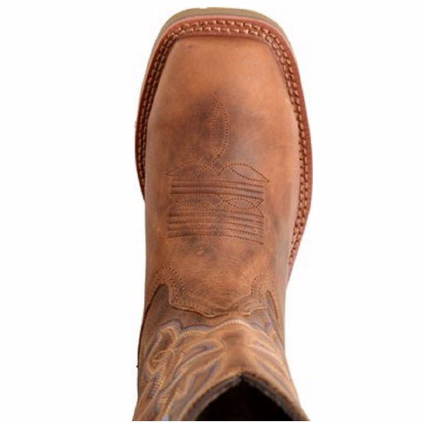 Double-H Ladies Earthquake Brown Square Toe ICE Roper Boot DH2410 - Wild West Boot Store