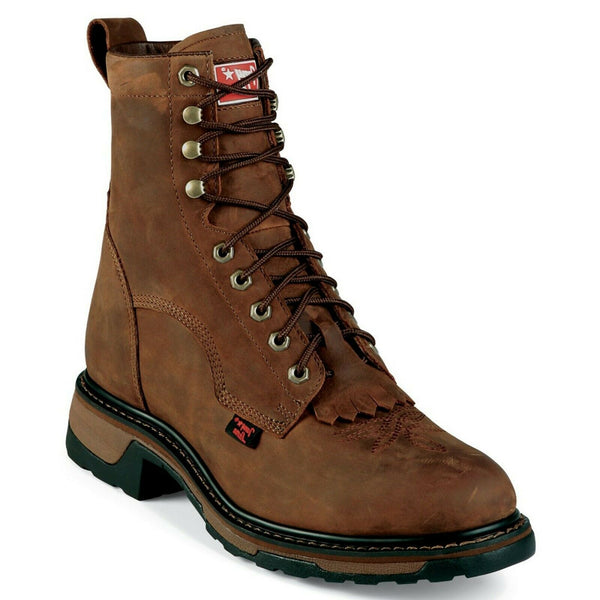Tony Lama Men's Tan Cheyenne Harlingen Steel Toe Work Boot TW2004