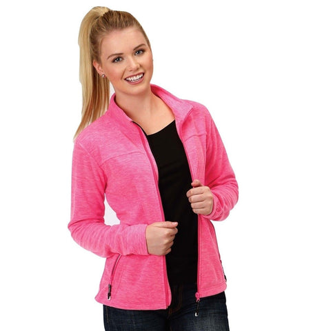 Roper Ladies Hot Pink Micro Fleece Jacket 03-098-0692-0623