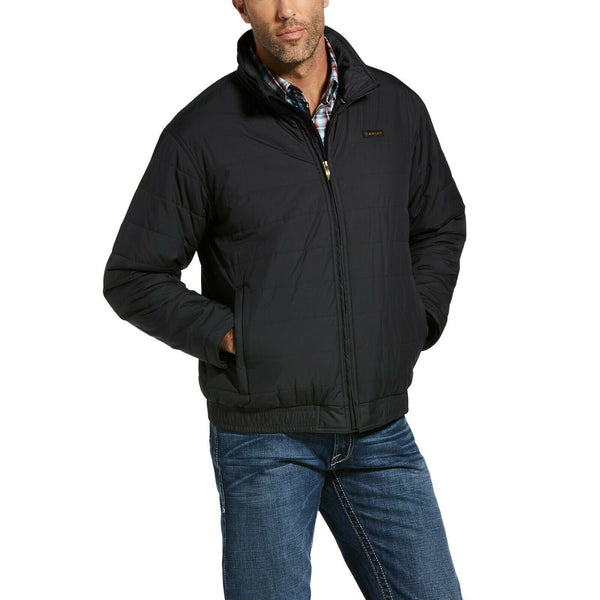 Ariat® Men's Mosier Quilted Black Full Zip Jacket 10033218