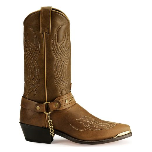 18294e843bd Sage by Abilene Men's Distressed Brown Harness Western Cowboy Boots 3012