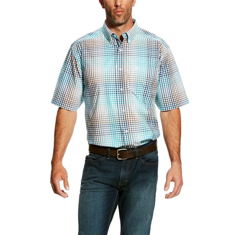 Ariat® Men's Harby Multicolor Plaid Short Sleeve Button Shirt 10025824