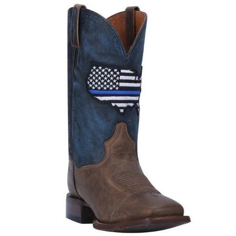 Dan Post Men's Thin Blue Line American Flag Square Toe Boots DP4515