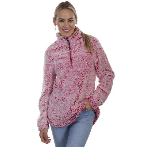 Scully Ladies Cherry Pink Sherpa Pullover HC337-CRP