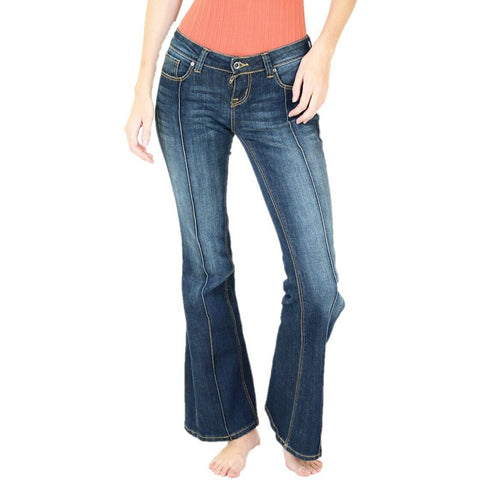 Grace in L.A. Ladies Straight Shooter Flare Jeans JB71187