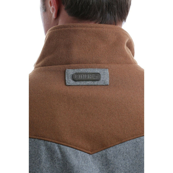 Cinch Men's Concealed Carry Color Blocked Poly-wool Vest MWV1543001