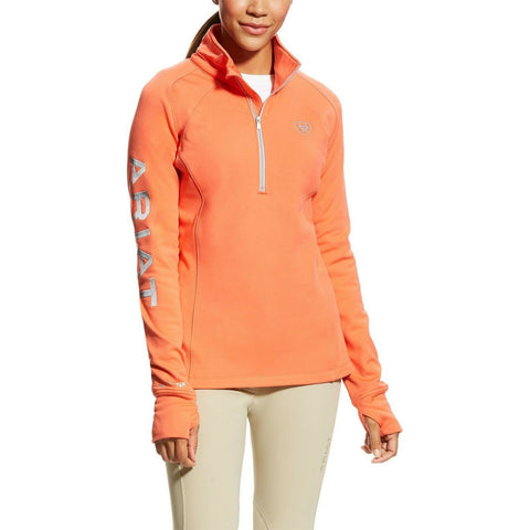 Ariat® Ladies Calypso Coral TEK Team 1/2 Zip Sweatshirt 10023788