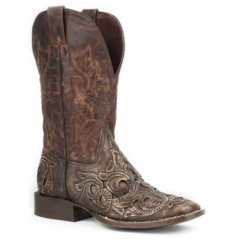 Stetson Men's Brown Tooled Leather Boot 12-020-8862-0730 - Wild West Boot Store