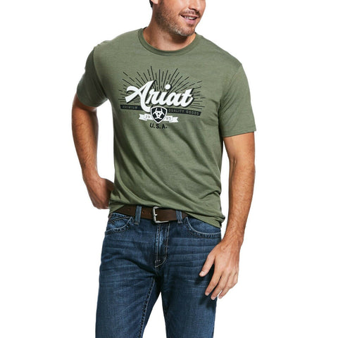 Ariat® Men's Military Heather Quality Short Sleeve T-Shirt 10032563