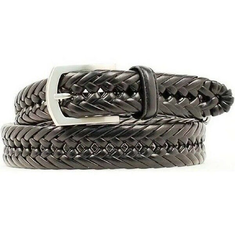 Nocona Hired Hand Men's Black Braided Leather Belt N2630601