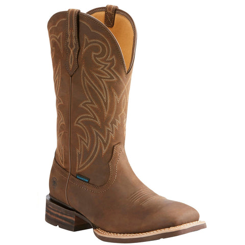 Ariat® Men's Tombstone H2O Oily Brown Waterproof Boots 10025134