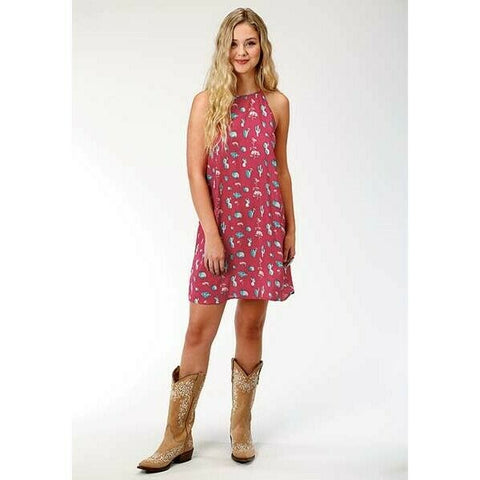 Roper Ladies Cactus Print Trapeze Dress 03-057-0590-4026
