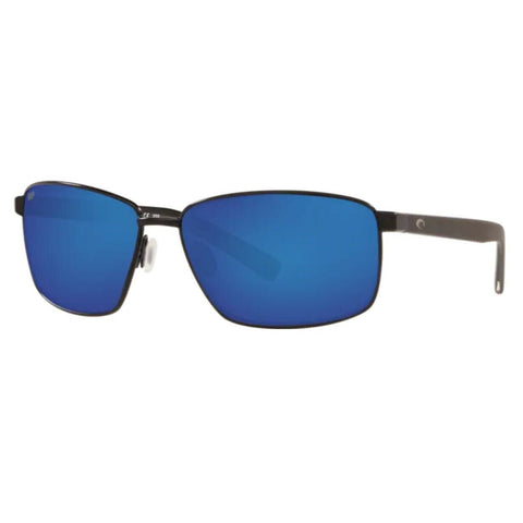 Costa Ponce Black Frame with Blue Mirror Lens Sunglasses PNC 11 OBMP