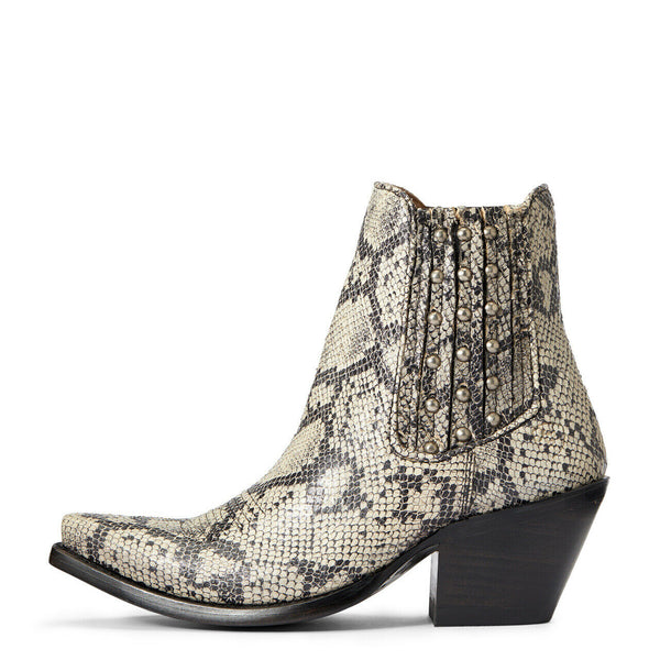 Ariat® Ladies Black & White Snake Eclipse Booties 10033891