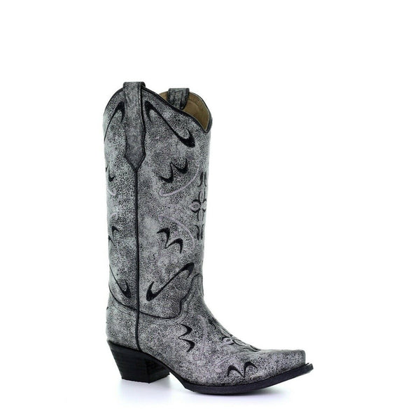 Circle G by Corral Ladies Grey Embroidery Western Boots L5471